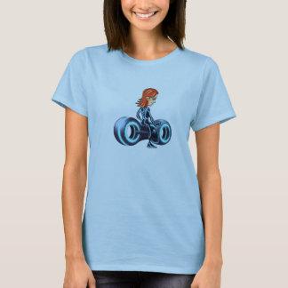 Virtual reality girl warrior t-shirt/ hooded sweat T-Shirt