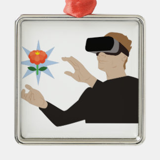 Virtual Reality Metal Ornament