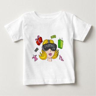 Virtual Reality Shopping Girl Baby T-Shirt