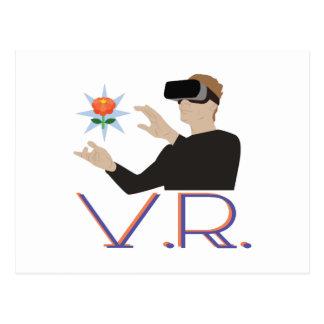 Virtual Reality V.R. Postcard