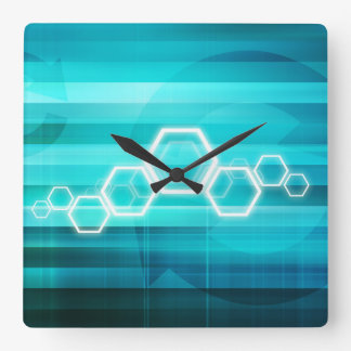 Virtual Science and Research Development as Art Square Wall Clock