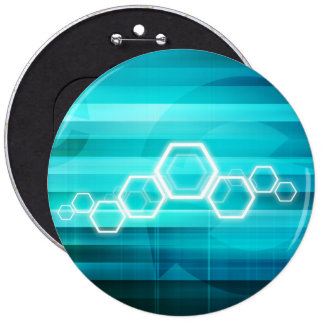 Virtual Science and Research Development as Art Pinback Button