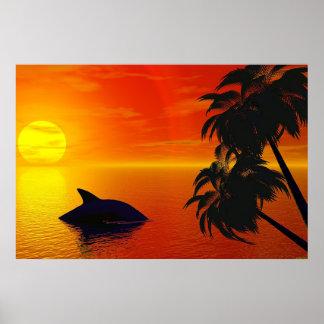 Virtual Sunset Poster