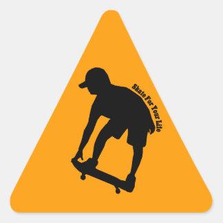 Virtual Urgency  Skater Silhouette Sticker