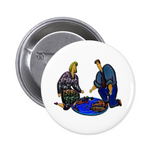Virtual Weather Mapping Pinback Buttons