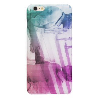 Virtualization Business Technology as an Abstract Glossy iPhone 6 Plus Case
