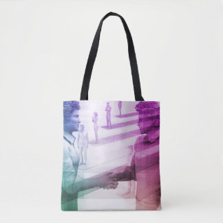 Virtualization Business Technology as an Abstract Tote Bag
