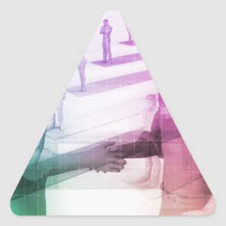 Virtualization Business Technology as an Abstract Triangle Sticker