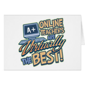 Virtually the Best Online Teacher Greeting Card
