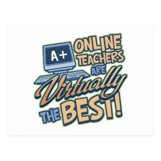 Virtually the Best Online Teacher Postcard