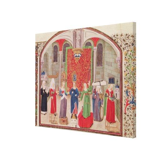Virtudes teológicas y cardinales lona estirada galerías