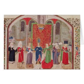 Virtudes teológicas y cardinales tarjeta de felicitación