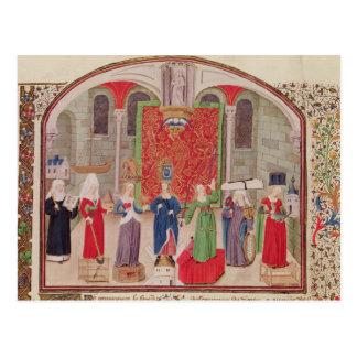Virtudes teológicas y cardinales tarjeta postal