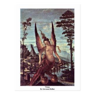 Virtue By Giovanni Bellini Postcard