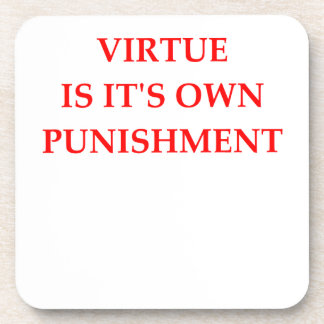 virtue drink coaster