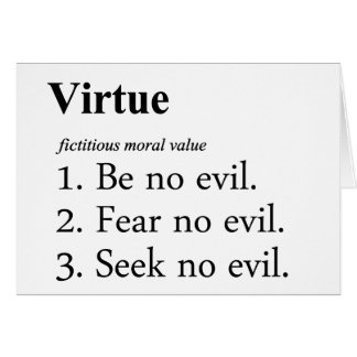 Virtue Definition Card