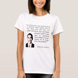 Virtue of hard work, inspirational Barack Obama T-Shirt