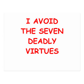 VIRTUES POSTCARD