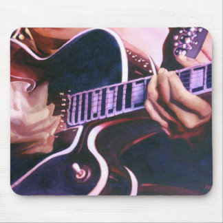 Virtuoso Guitar Player Watercolor Mouse Pads