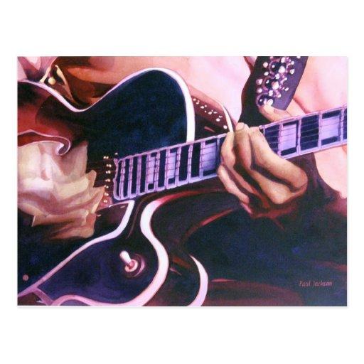 """""""Virtuoso"""" Guitar Player Watercolor Postcard"""