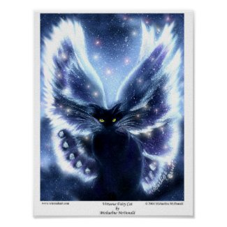 Virtuous Fairy Cat Poster