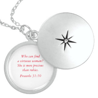Virtuous Woman Proverbs 31 Silver Necklace
