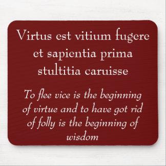 Virtus est vitium fugere mouse pad