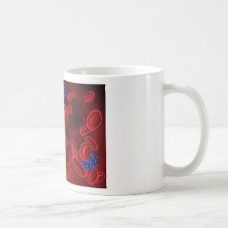 Virus and Blood Cells Coffee Mug