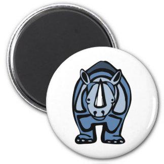 Virus azul del rinoceronte imán redondo 5 cm