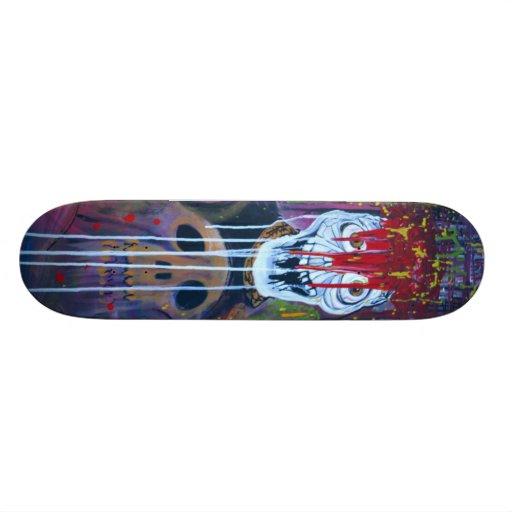 Virus Bloody Skull Skateboard