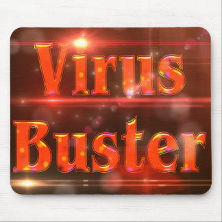 Virus Buster Red Lights ©AH2017 Mouse Pad