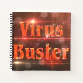 Virus Buster Red Lights ©AH2017 Notebook