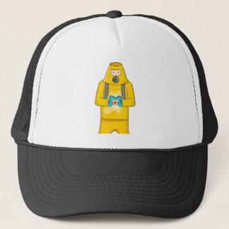 Virus Containment Man Cartoon Trucker Hat