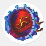 Virus del VIH (caridad del VIH/del SIDA) Etiqueta Redonda