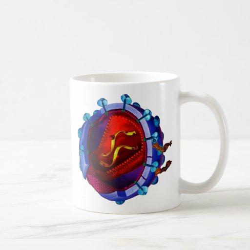 Virus del VIH (caridad del VIH/del SIDA) Taza De Café