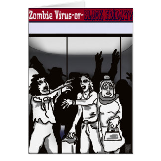 ¿virus del zombi? tarjeta de felicitación