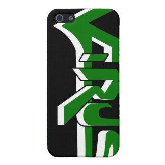 Virus Ebony (Green) iPhone Case