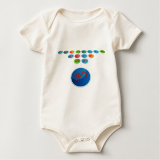 Virus Expansion Chart Baby Bodysuit