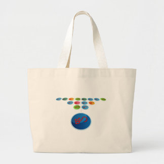 Virus Expansion Chart Large Tote Bag