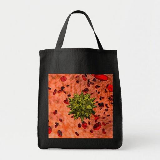virus in bloodstream tote bag