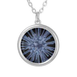 Virus Infected Cell Round Pendant Necklace
