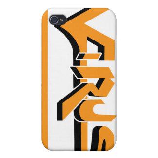Virus Ivory (Orange) iPhone Case