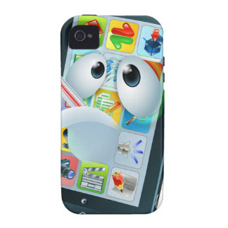 Virus mobile cell phone cartoon iPhone 4/4S covers