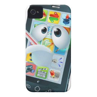 Virus mobile cell phone cartoon iPhone 4 Case-Mate cases