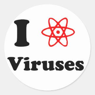 Virus Pegatina Redonda