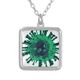 Virus Silver Plated Necklace