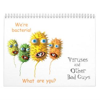 Virus y otros chicos malos calendario de pared