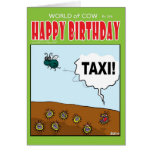 "Viruses hailing a passing Fly ""TAXI!"" Greeting Card"