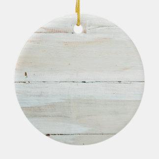 Viruta blanca de madera blanqueada del granero ornamentos de reyes magos
