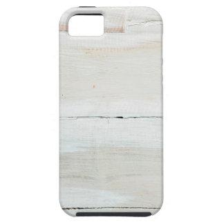Viruta blanca de madera blanqueada del granero iPhone 5 cárcasa